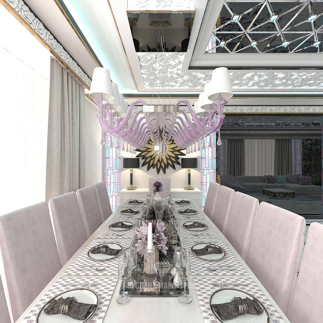 Дизайн роскошной гостиной в частном доме