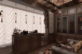 Дизайн кабинета в квартире в классическом стиле. 7 фото