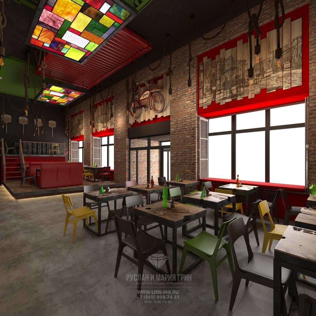 Дизайн пиццерии в Москве