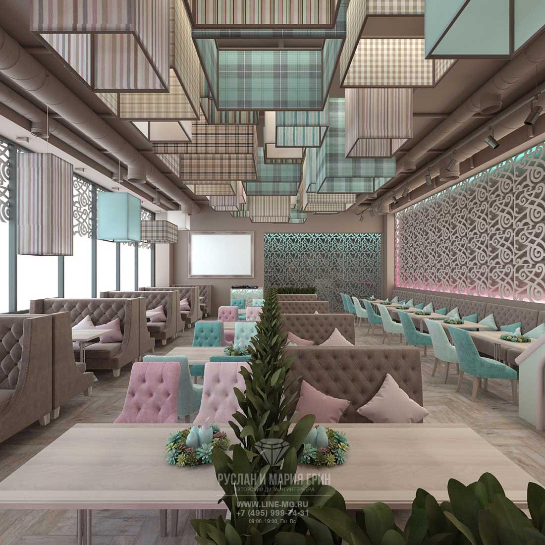 Планировочное решение кафе в Москве