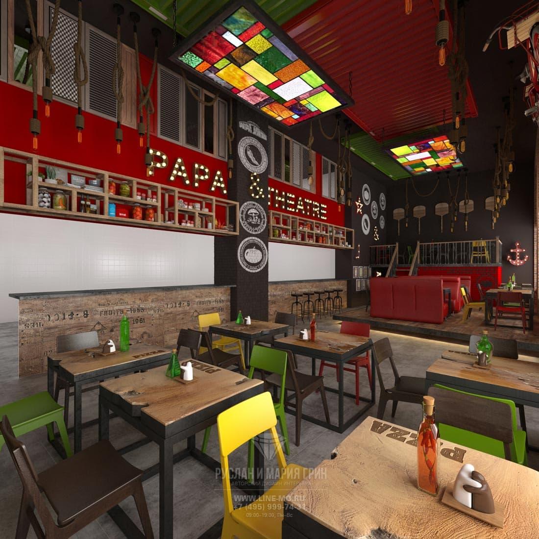 Дизайн-проект пиццерии «Папа Джонс»