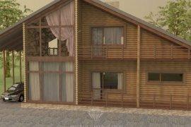 Дизайн фасада частного деревянного дома