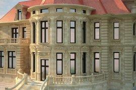Дизайн фасада каменного загородного дома