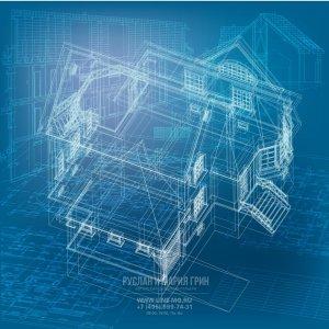 3D модель загородного дома