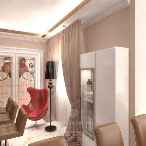 Фото интерьера гостиной в стиле арт-деко