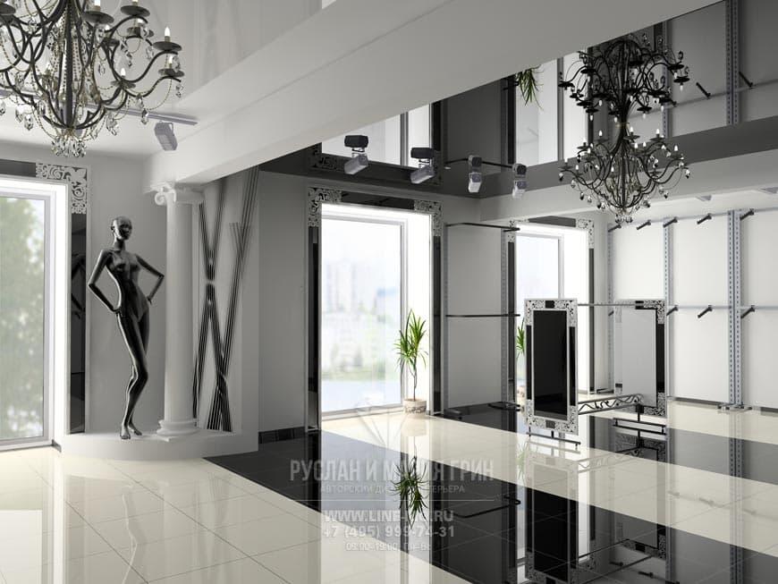 Дизайн-проекты магазинов в Москве