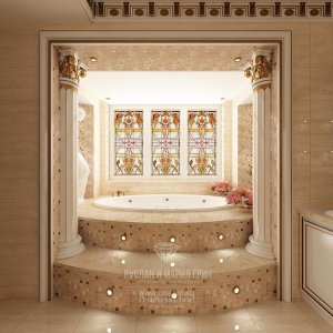 Интерьер ванной в стиле модерн
