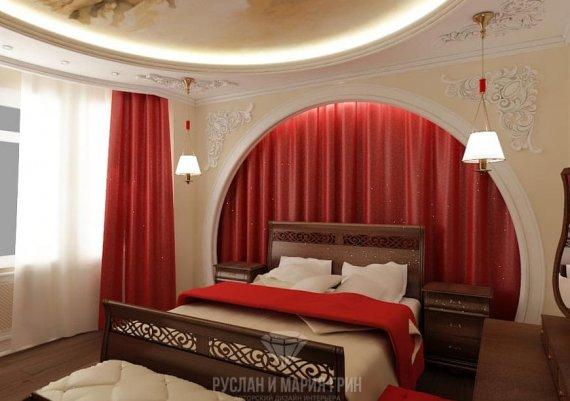 Интерьер спальни в современном доме