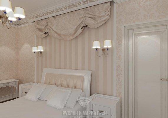 Дизайн интерьера спальни в классическом стиле
