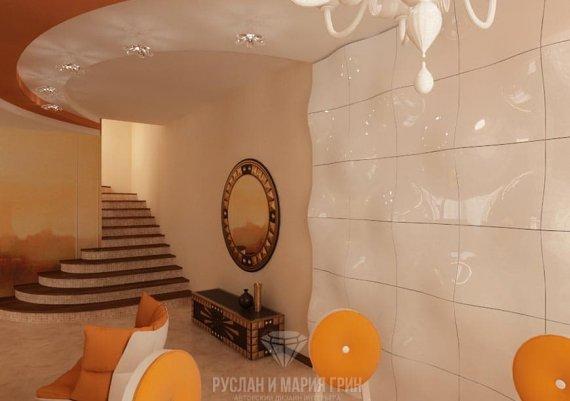 Современный дизайн интерьера холла