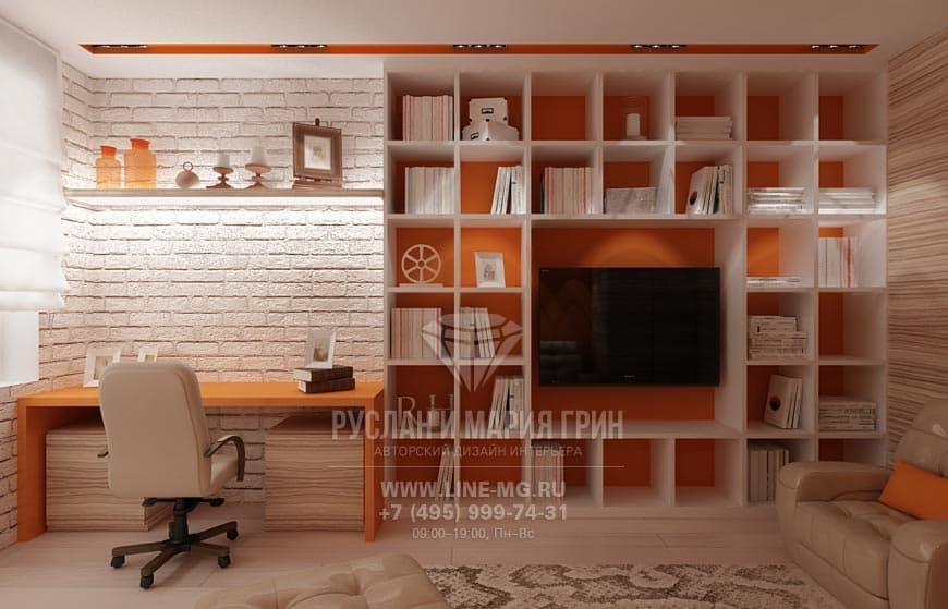 Недогорие отделочные мариалы в дизайне кабинета