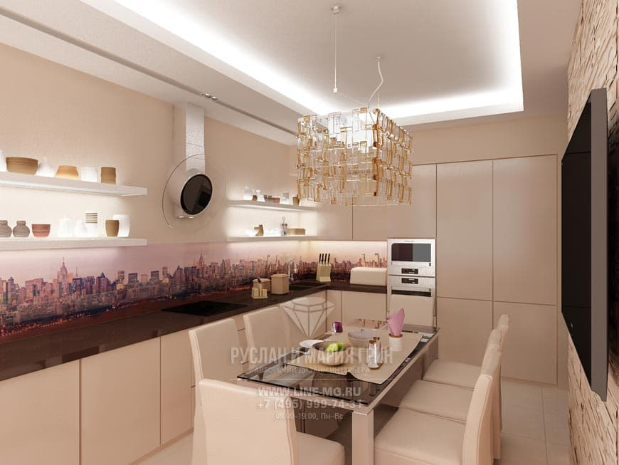 Photo: Beige kitchen design