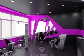 """Cool people"" beauty salon design on Stepana Supruna Street"
