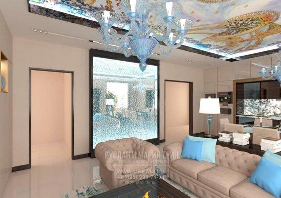 Элемент декора гостиной - пузырьковая стена