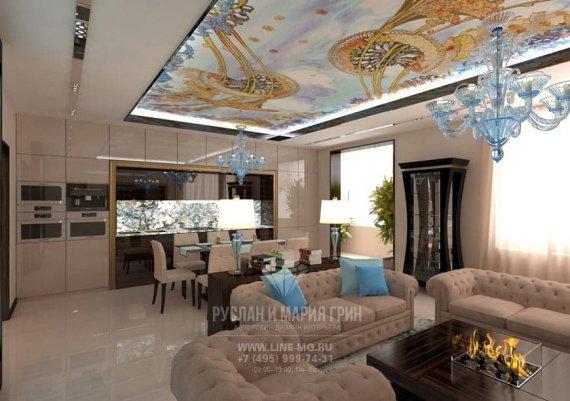 Интерьер гостиной в стиле модерн