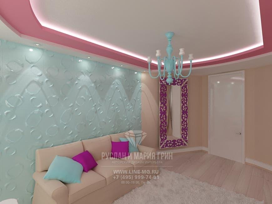 Дизайн спальни в ярких цветах фото