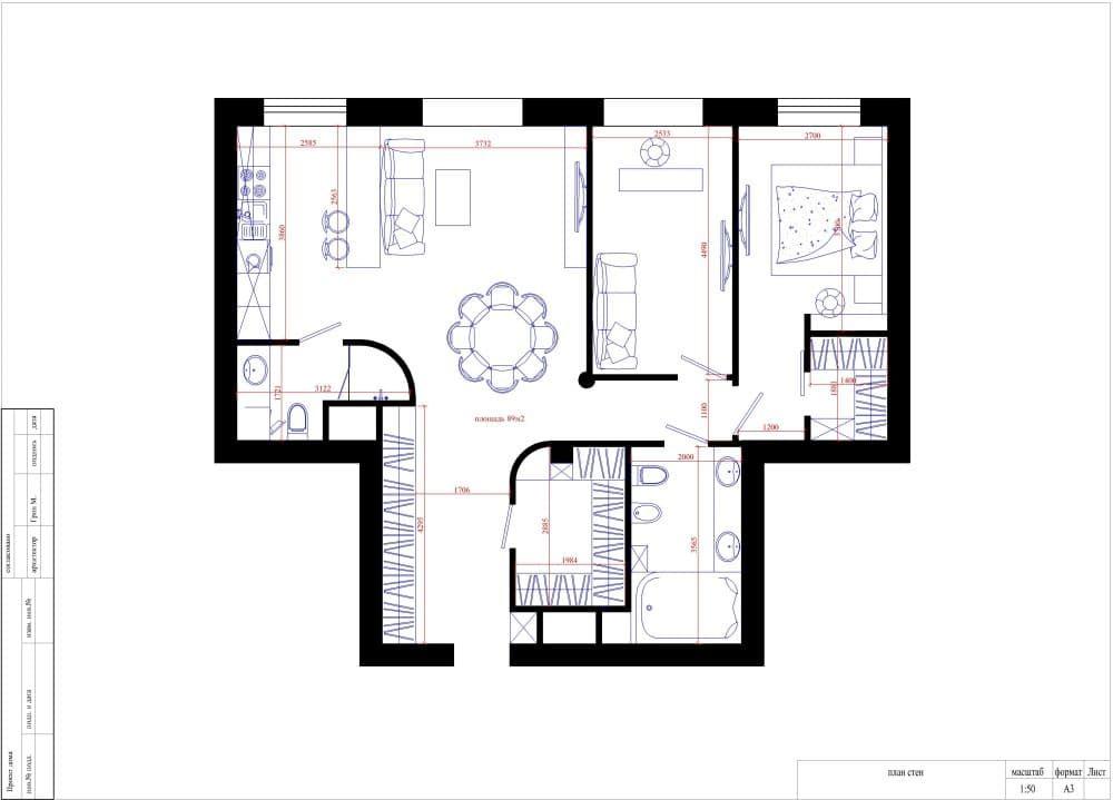 Фото варианта планировки квартиры