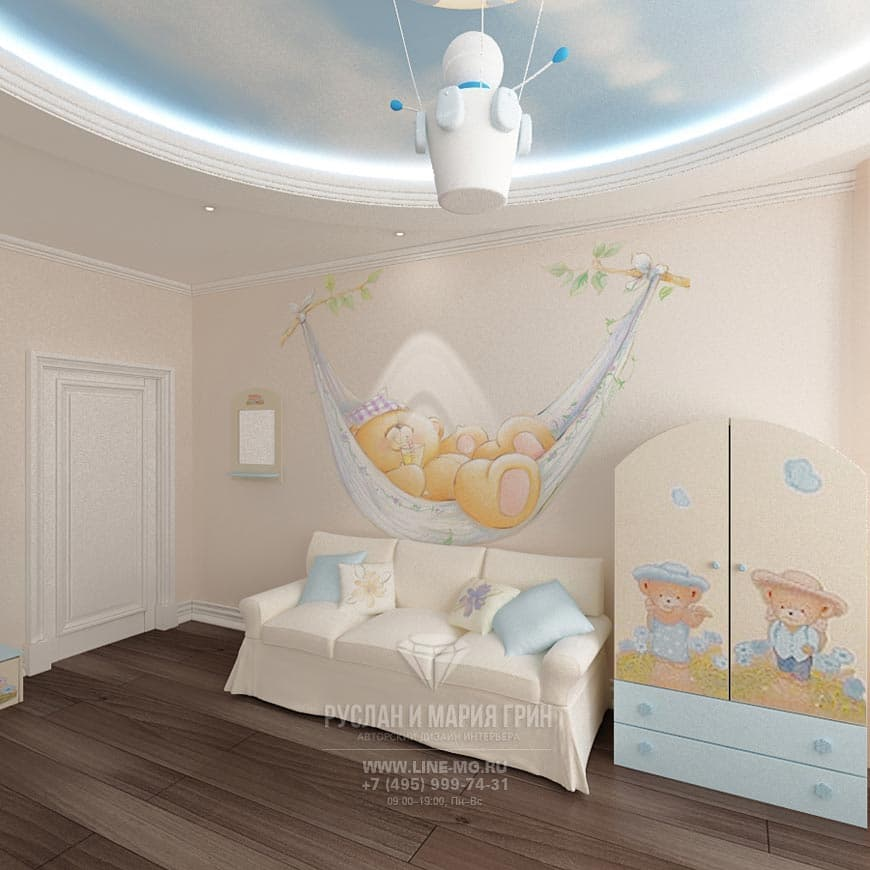 Photos of the interior nursery for a newborn baby