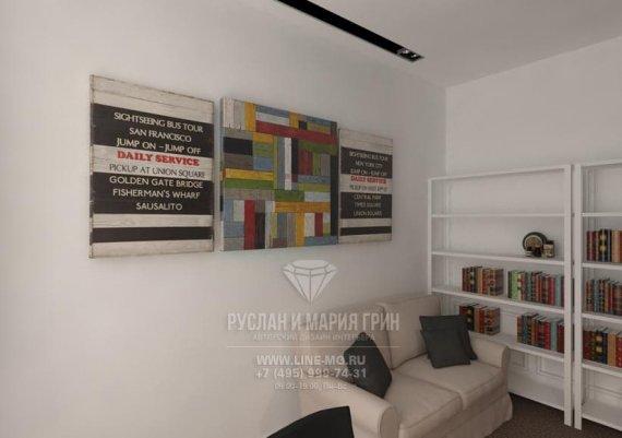 Фото интерьера офиса в современном стиле: минималистичный дизайн