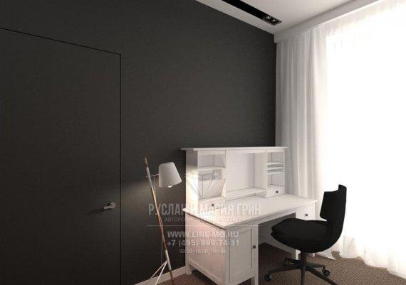 Фото интерьера офиса в современном стиле с черной стенкой