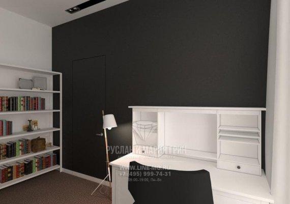 Фото интерьера офиса на м. Римская в современном стиле: черная стенка