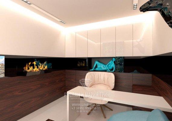 Современная кабинет с элементами стиля модерн