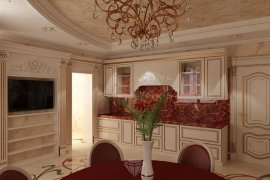 Design of an apatment on Hersonskaya street: classical interior in the Rococo style
