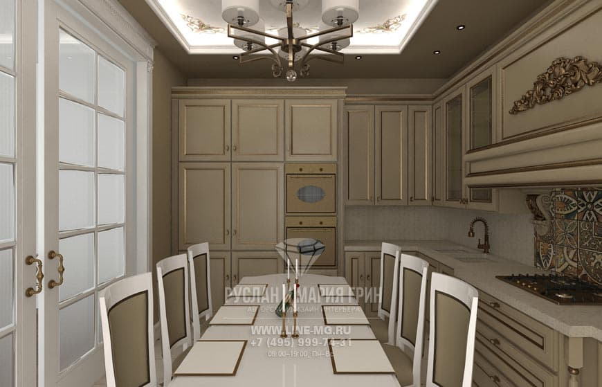 New in 2015: Photos of the kitchen interior in beige color