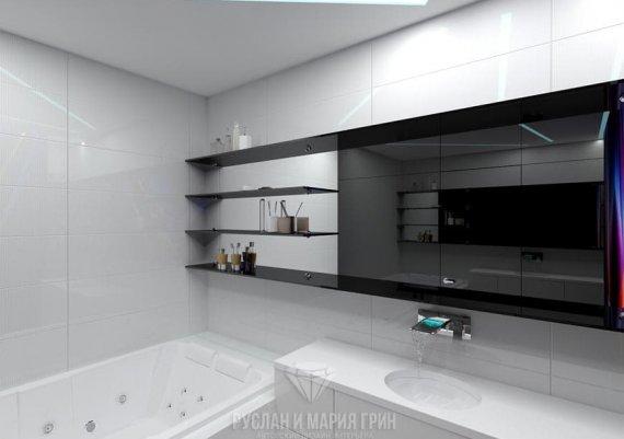 Дизайн ванной в футуристическом стиле