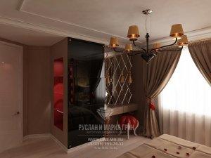 Дизайн спальни, вид на туалетный стоик