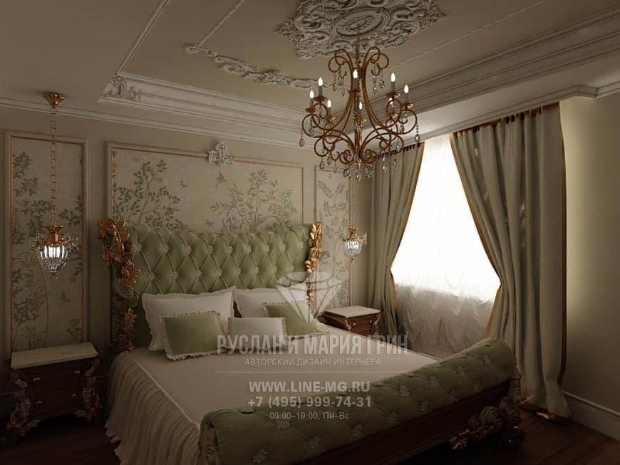 Дизайн интерьера спальни из нашего портфолио