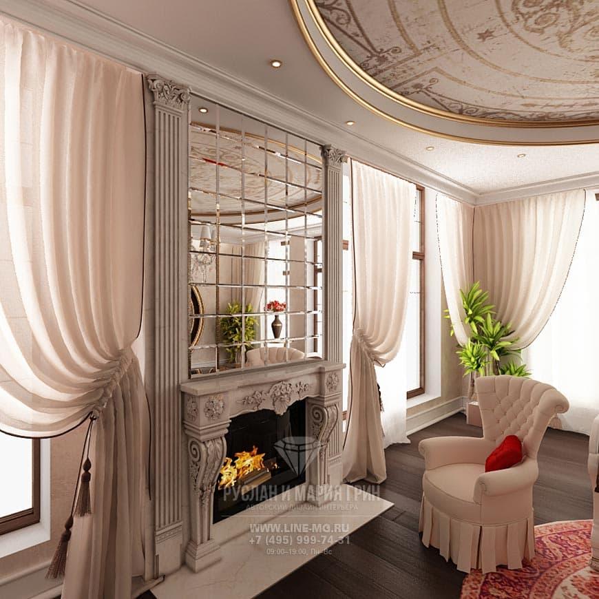Фото интерьера гостиной в бежевых тонах