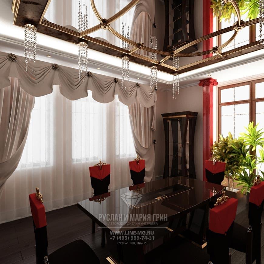 Подвесной потолок из дизайн-проекта дома во Внуково