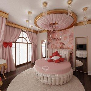 Дизайн розовой детской комнаты для девочки