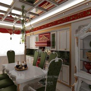 Фото интерьера кухни в квартире в Велл Хаус