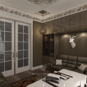 Современные идеи в интерьере кабинета в Барвихе