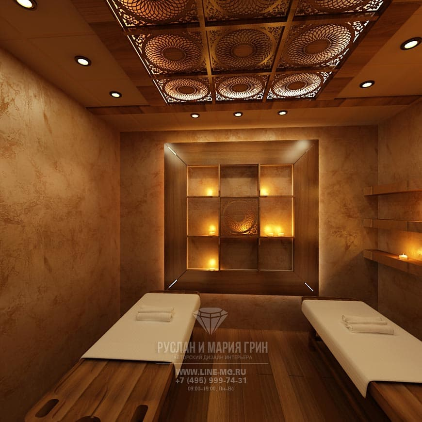 Дизайн массажного кабинета в салоне красоты