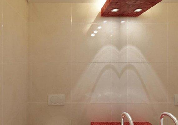 Дизайн интерьера санузла для салона красоты