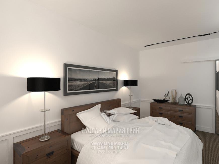 Фото интерьера спальни в стиле лофт
