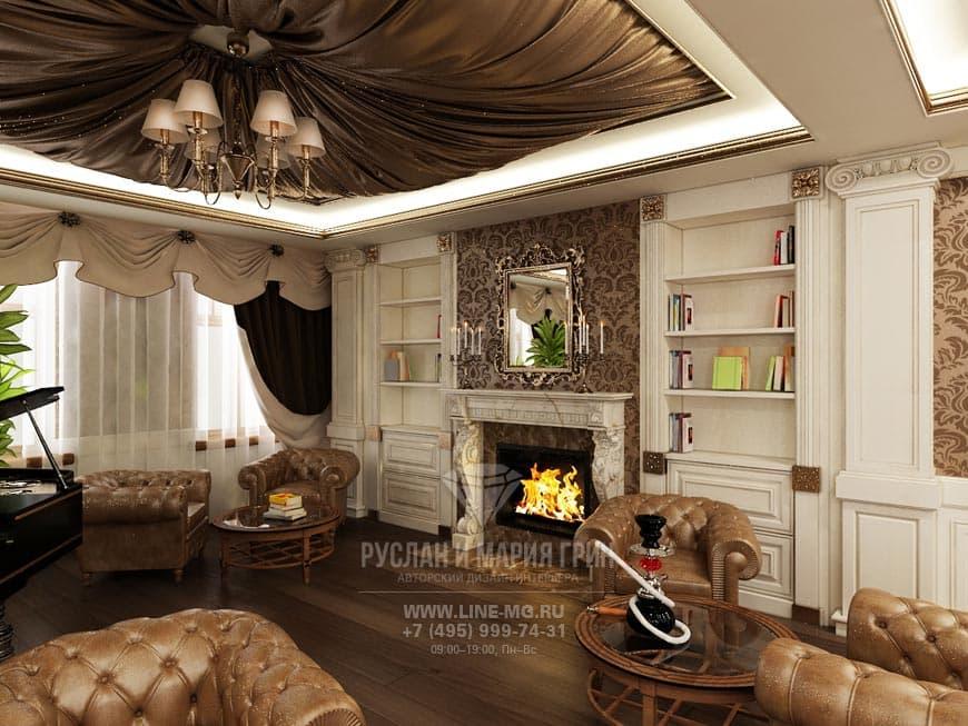 """Классический стиль: дизайн интерьера мини-отеля """"Рыбинский"""""""