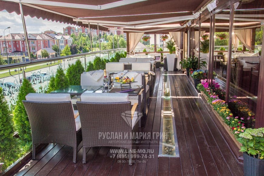 Дизайн веранды ресторанов Gianfranko и Стейк Хаус