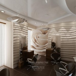 Интерьер парикмахерского кабинета в салоне красоты
