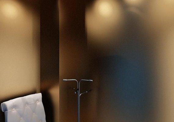 Интерьер солярия в салоне красоты в футуристическом стиле