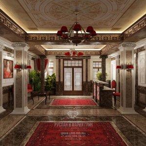 Дизайн гостиницы в классическом стиле