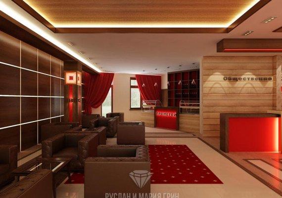 Идея интерьера гостиницы и оздоровительного центра «Прометей»