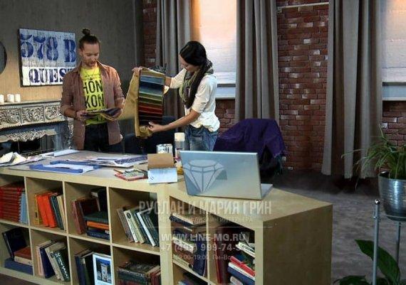 На съемках телепрограммы «Про декор» на ТНТ с Русланом и Марией Грин