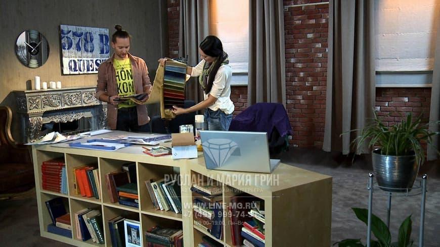 Фото со съемок телепрограммы «Про декор» на ТНТ с Русланом и Марией Грин