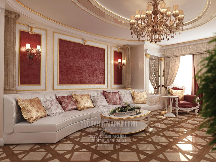 Дизайн квартиры в классическом стиле. Фото
