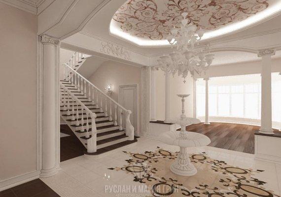 Фото интерьера лестницы в классическом стиле