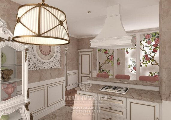 Фото интерьера кухни в классическом стиле